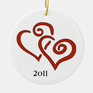 First Christmas Together 2011 Round Ceramic Decoration