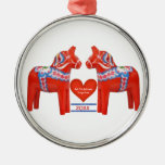 First Christmas Together Dated Swedish Dala Horse