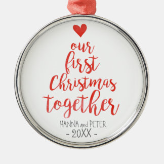 First Christmas together elegant ornament