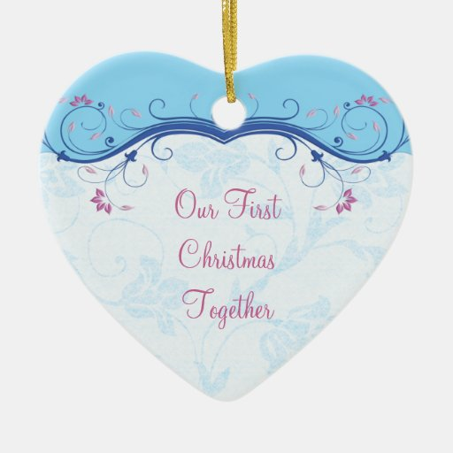 First Christmas Together Heart Wedding Ornament
