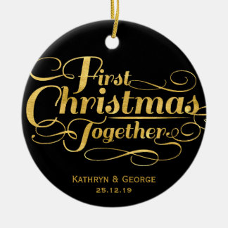 First Christmas Together Holiday Photo Ornament
