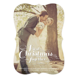 First Christmas Together Married Holiday Greetings Custom Invite