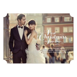 First Christmas Together Married Holiday Greetings 13 Cm X 18 Cm Invitation Card