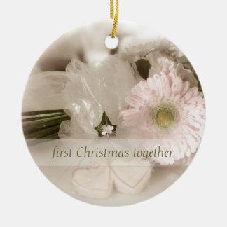 First Christmas together - Wedding Christmas Ornament