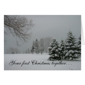 First Christmas together-Winter Landscape Greeting Card