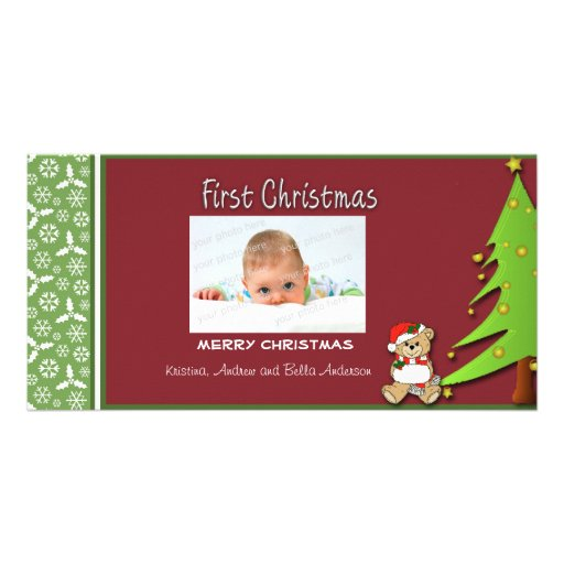 First Christmas Tree Photo Card
