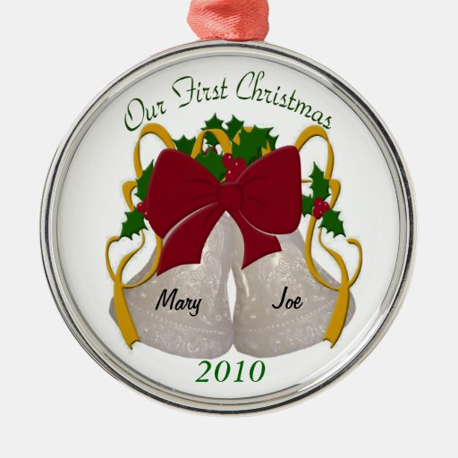 First Christmas Wedding Bells Ornament