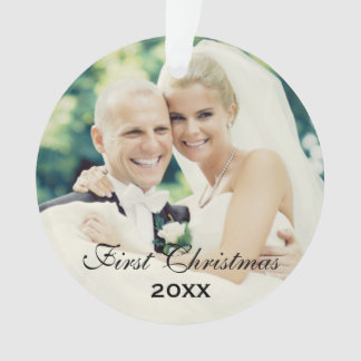 First Christmas | Wedding Photo Ornament
