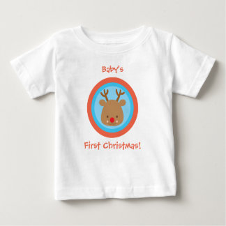First Christmas Xmas Rudolf T Shirt