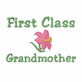 First Class Grandmother Embroidered Shirt