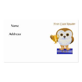 First Class Reader Pack Of Standard Business Cards