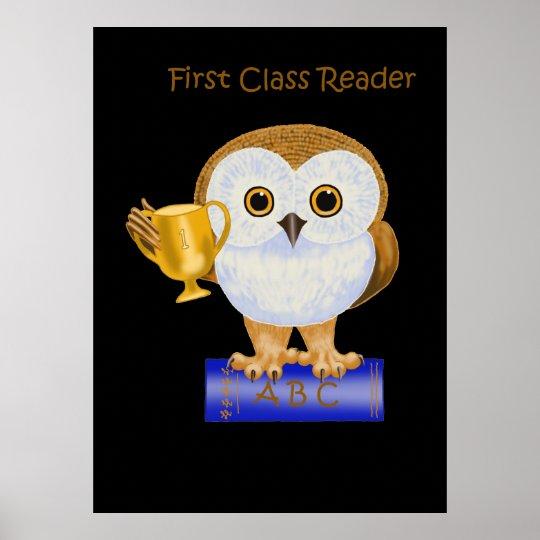 First Class Reader Poster