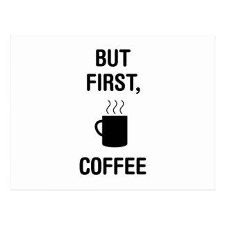 First Coffee Postcard