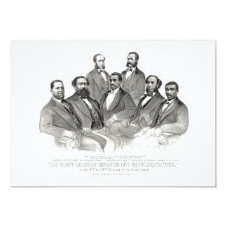 First Colored Senator and Representatives 13 Cm X 18 Cm Invitation Card