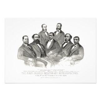 First Colored Senator and Representatives Announcement