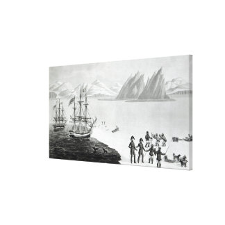 First communication with the natives of Prince Canvas Print