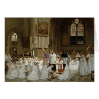 First Communion, 1867 Card