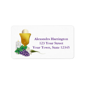 First Communion Address Label