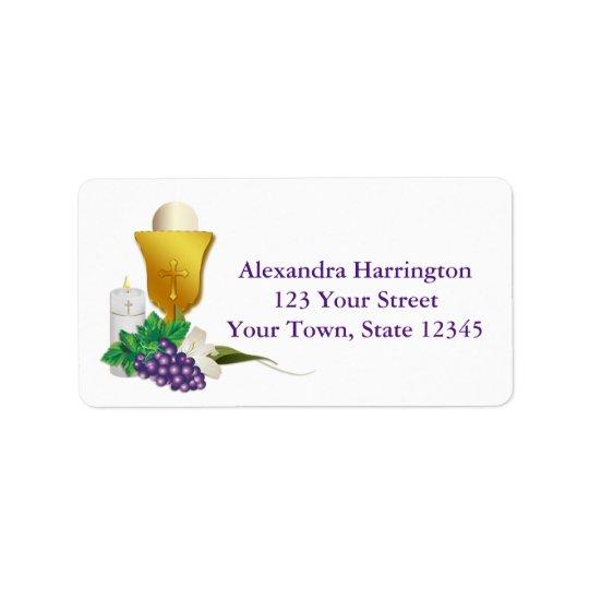 First Communion Address Label