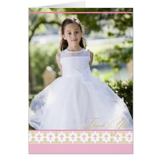 First Communion, Christening | Thank You Card