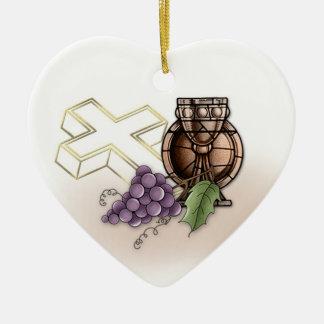 First Communion Commerative Ceramic Heart Decoration