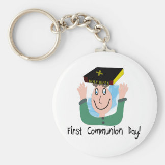 """First Communion Day~~""""Boy With Bible"""" Keychain"""