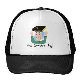 """First Communion Day~~""""Boy With Bible"""" Mesh Hat"""