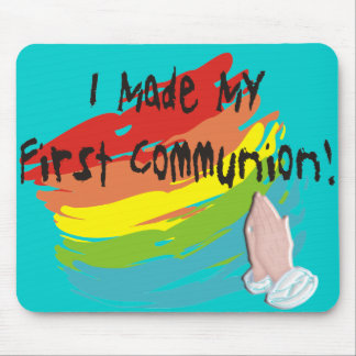 First Communion Day T-Shirts and Gifts Mouse Pad