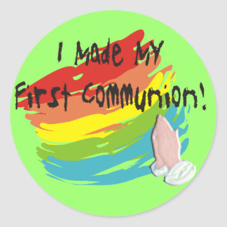 First Communion Day T-Shirts and Gifts Sticker