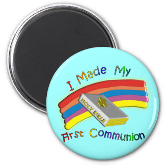 First Communion Day  T-Shirts & Gifts For Kids 6 Cm Round Magnet