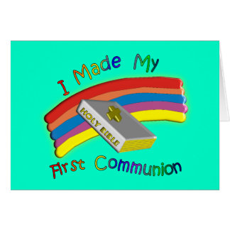 First Communion Day  T-Shirts & Gifts For Kids Greeting Card