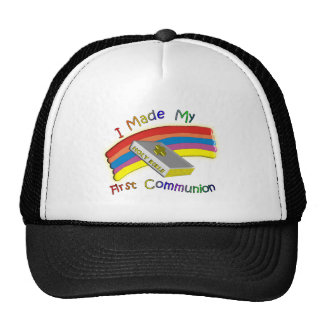 First Communion Day  T-Shirts & Gifts For Kids Mesh Hat