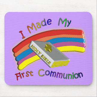 First Communion Day T-Shirts Gifts For Kids Mousepads