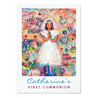 First Communion for Girl Customizable Invite