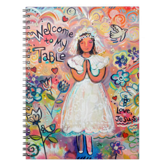 First Communion Girl Journal Notebook