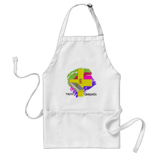First Communion GOLD CROSS Design Apron