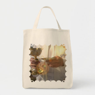 First Communion  Grocery Tote Canvas Bags