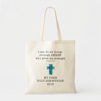First Communion I Can Do All Things Budget Tote Bag