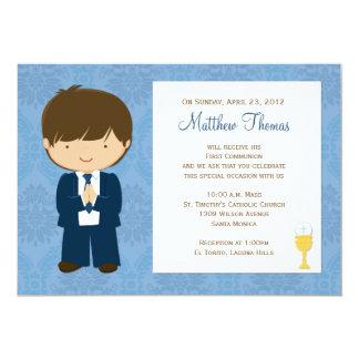 First Communion Invitation for Boy