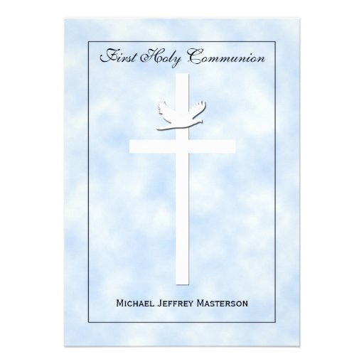 First Communion Invitation for Boys Custom Announcements