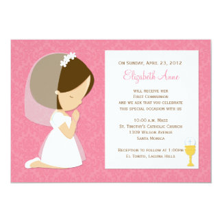 First Communion Invitation for Girl
