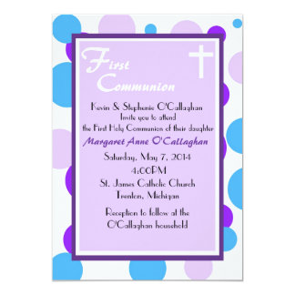 "First Communion Invitation - Girl 5"" X 7"" Invitation Card"