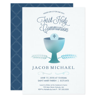 First Communion Invite - Boy's 1st Holy Communion