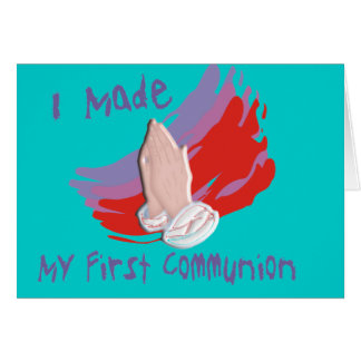 First Communion Kids Shirts & Gifts Greeting Card