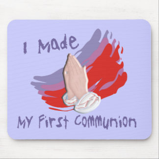 First Communion Kids Shirts Gifts Mouse Pads