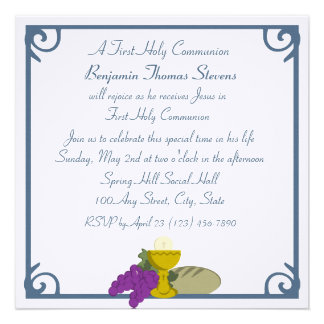 First Communion Personalized Announcement
