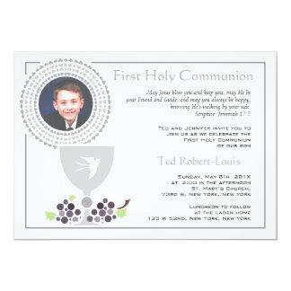"""First Communion Photo Invitation 5"""" X 7"""" Invitation Card"""