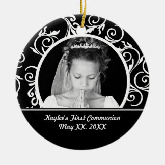 First Communion Photo Ornament