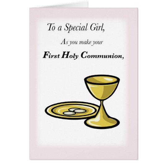 First Communion, Special Girl Card