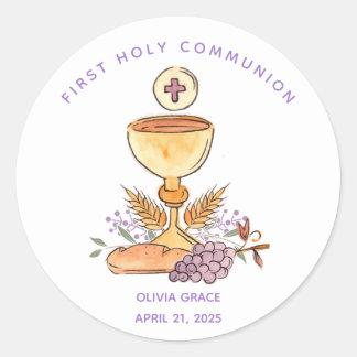 First Communion Symbols Sticker